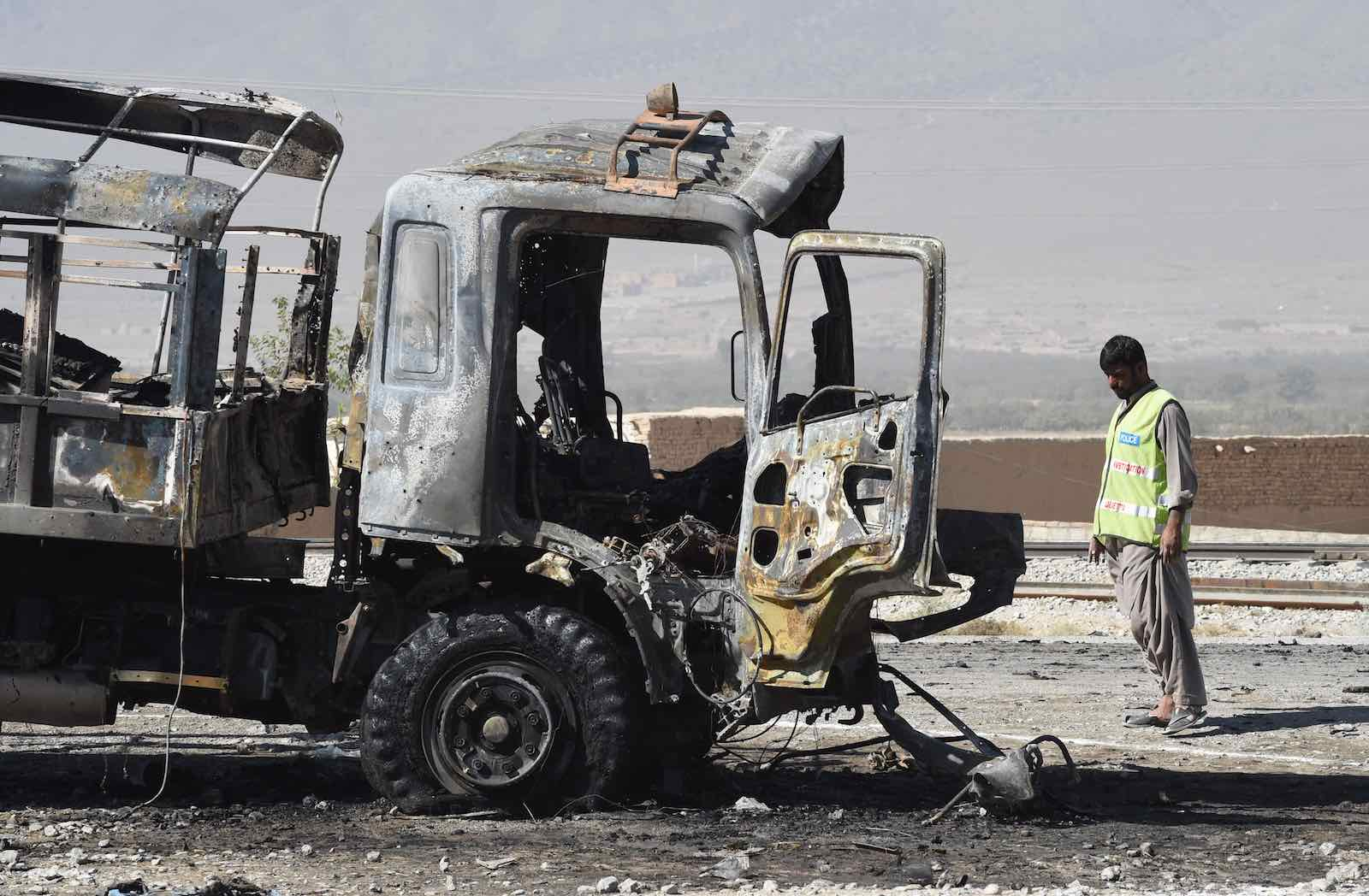 Tehreek-e-Taliban Pakistan claimed responsibility for a suicide blast near Quetta, in Pakistan's Balochistan province, 18 October 2017, in which 8 people were killed and 24 wounded (Photo: Banaras Khan/AFP/Getty)