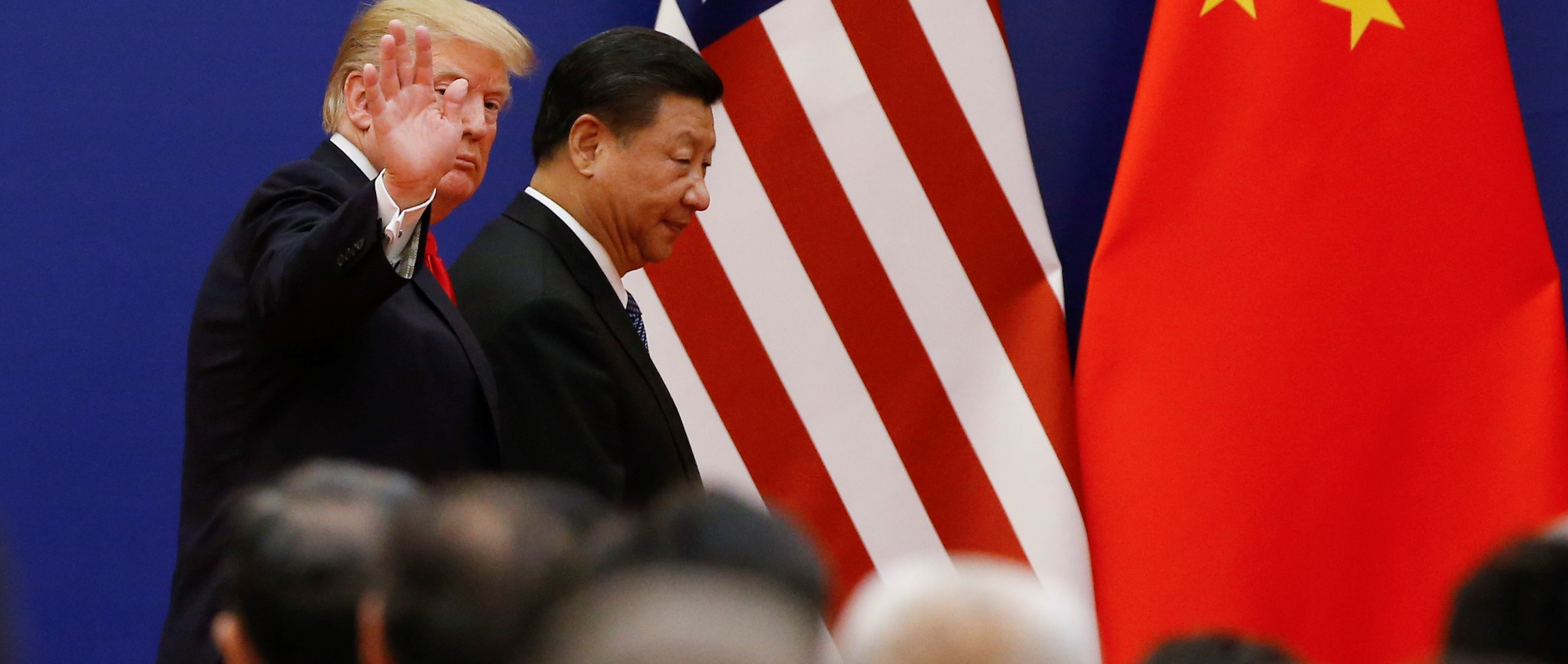 Presidents Donald Trump and Xi Jinping meeting in Beijing, November 2017 (Photo: Thomas Peter-Pool/Getty Images)