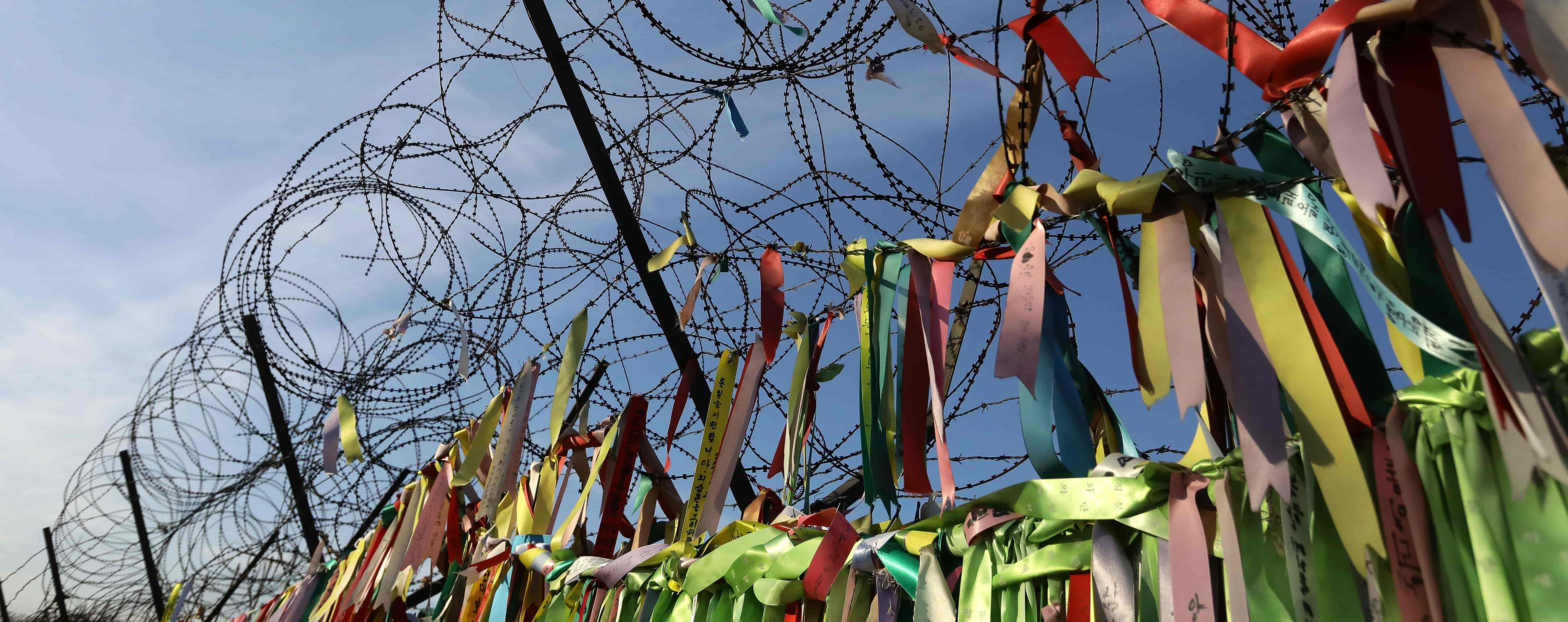 Barbed wire fence near the demilitarised zone separating South and North Korea on 3 January, 2018 (Photo: Chung Sung-Jun/Getty)