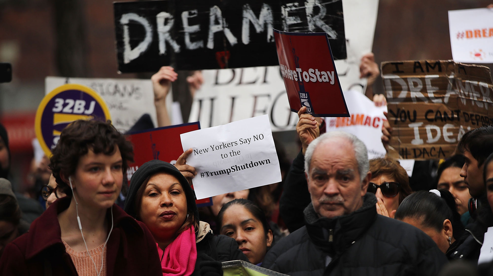 Activists In New York Protest Government Shutdown  (Photo by Spencer Platt/Getty Images)