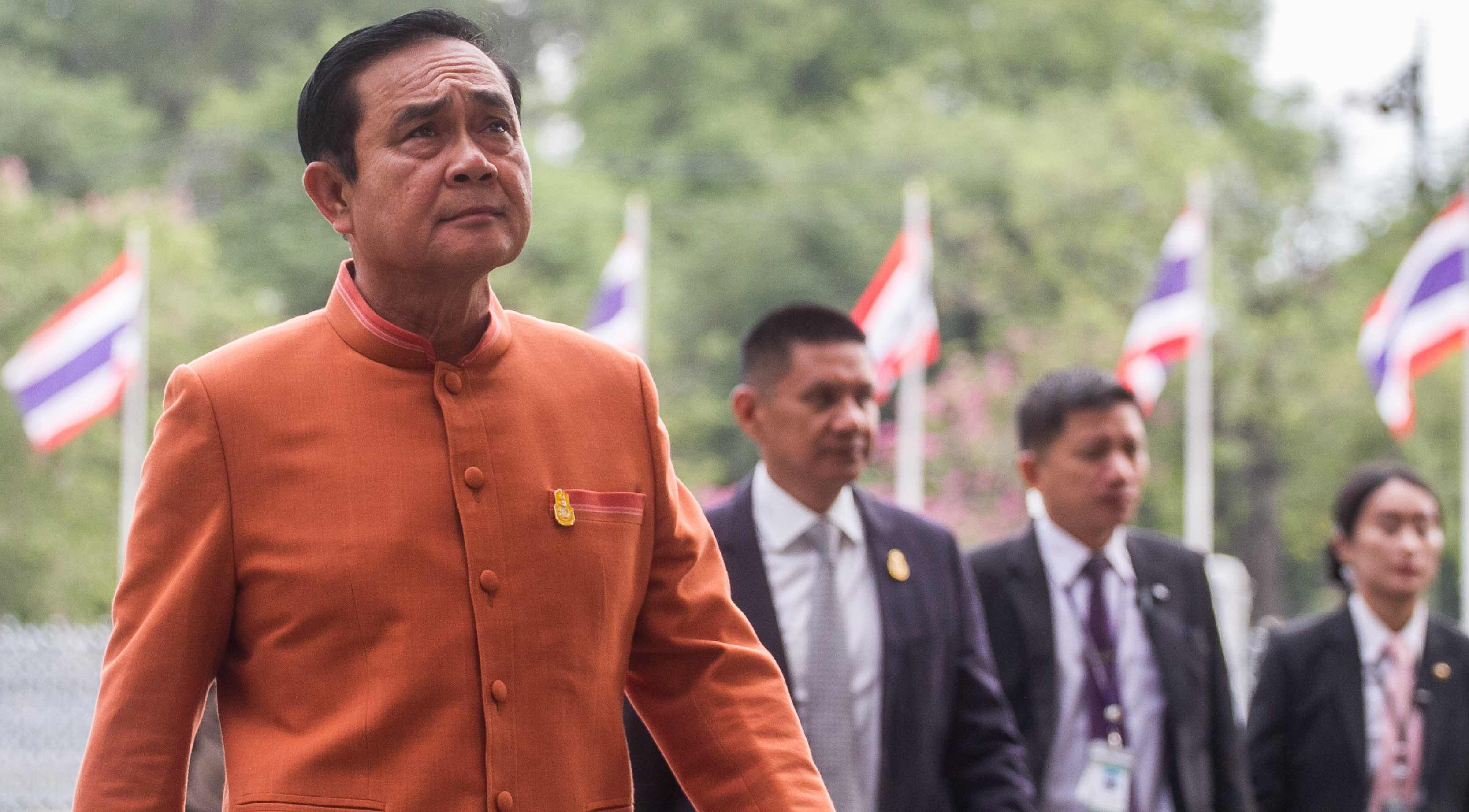 Thailand's Prime Minister Prayut Chan-ocha in January (Photo: Vichan Poti/Getty)