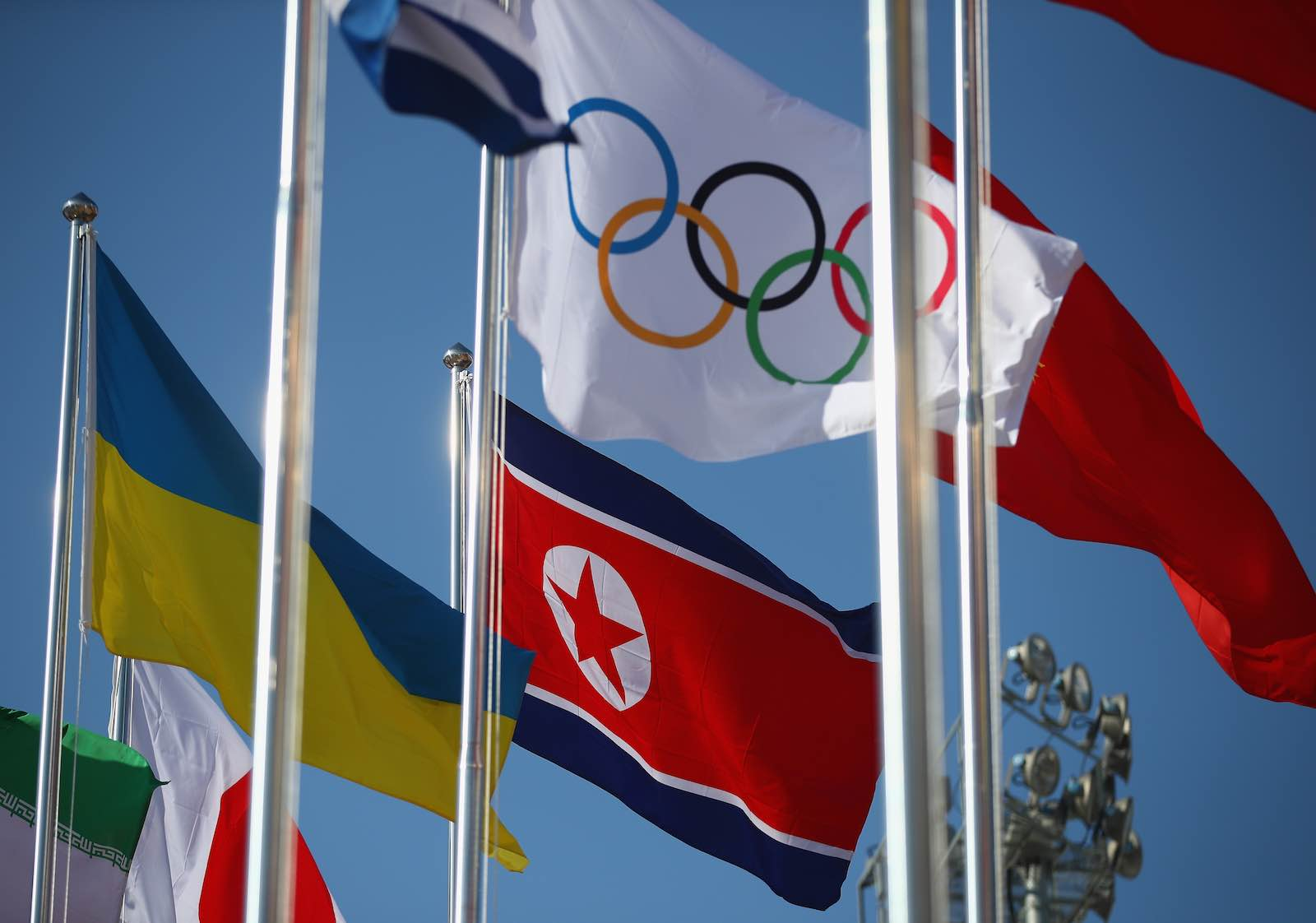 North Korean flag flies for the 2018 Olympic games in Pyeongchang, South Korea (Photo: Clive Mason/Getty Images)