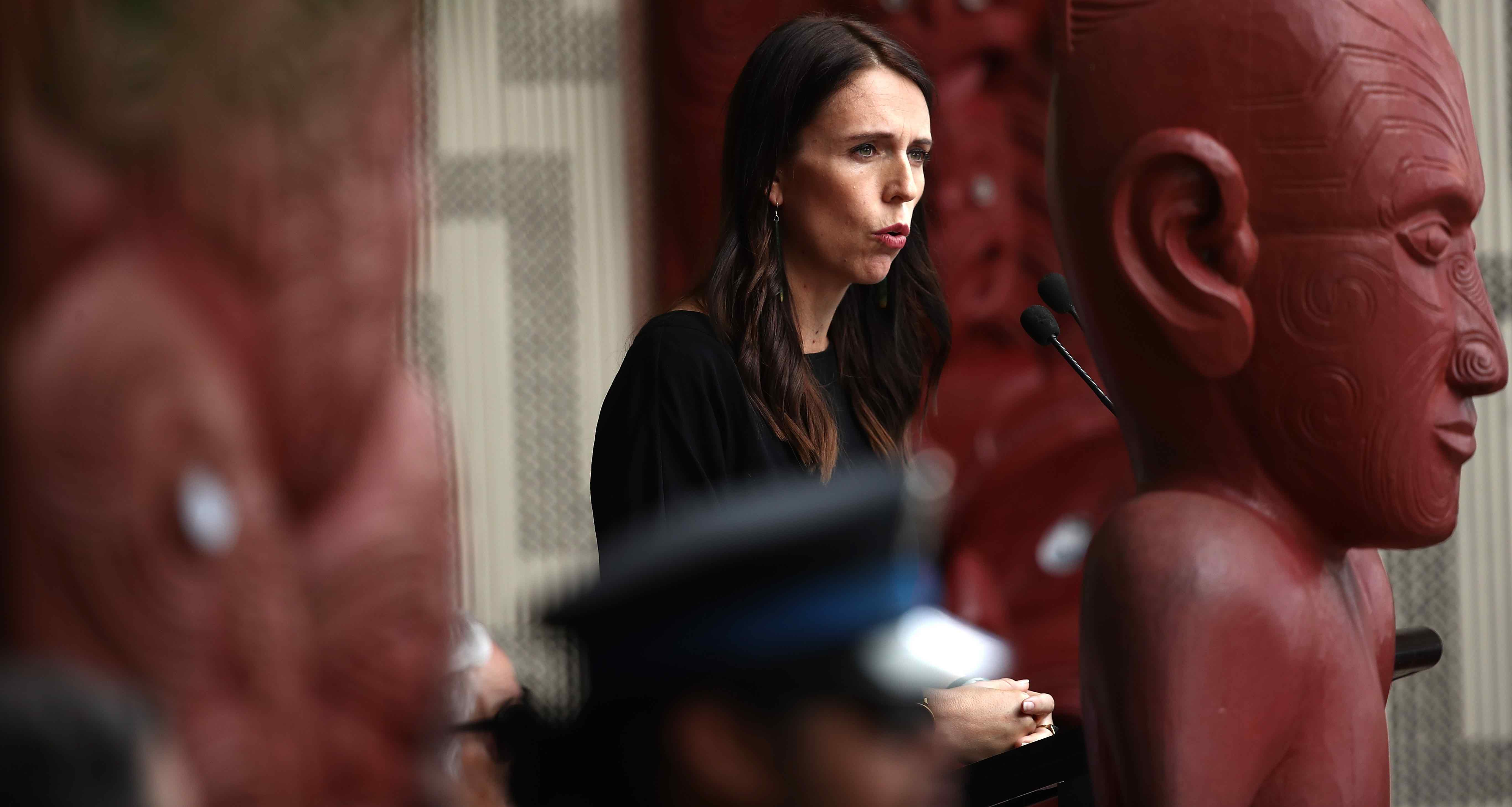 New Zealand Prime Minister Jacinda Ardern at Waitangi Treaty Grounds last month (Photo: Phil Walter/Getty)