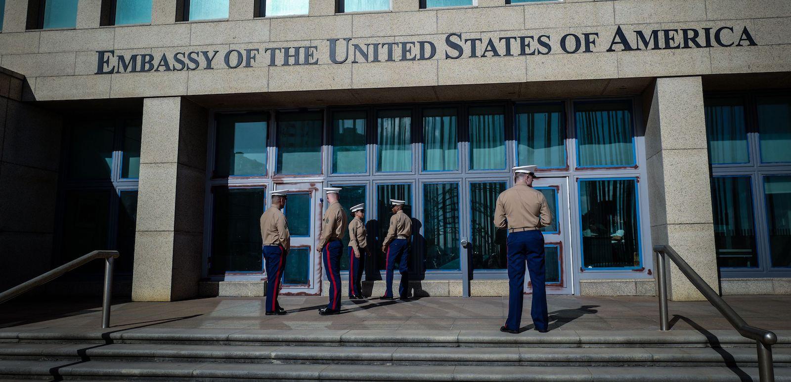 US embassy in Havana (Photo: Adalberto Roque via Getty)