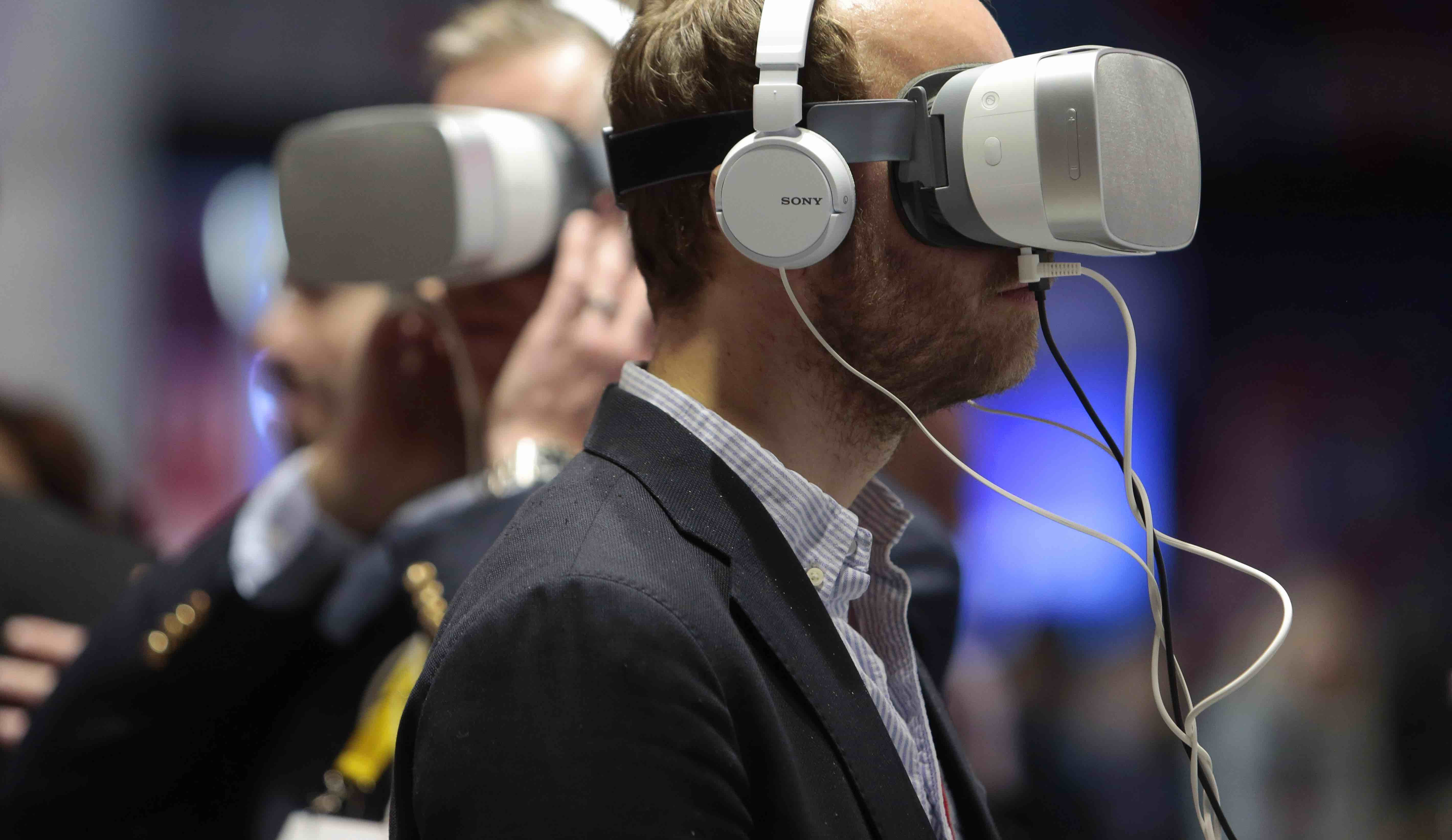 Virtual 5G technology on display at the Mobile World Congress, Barcelona, in February (Photo: Miquel Benitez/Getty)
