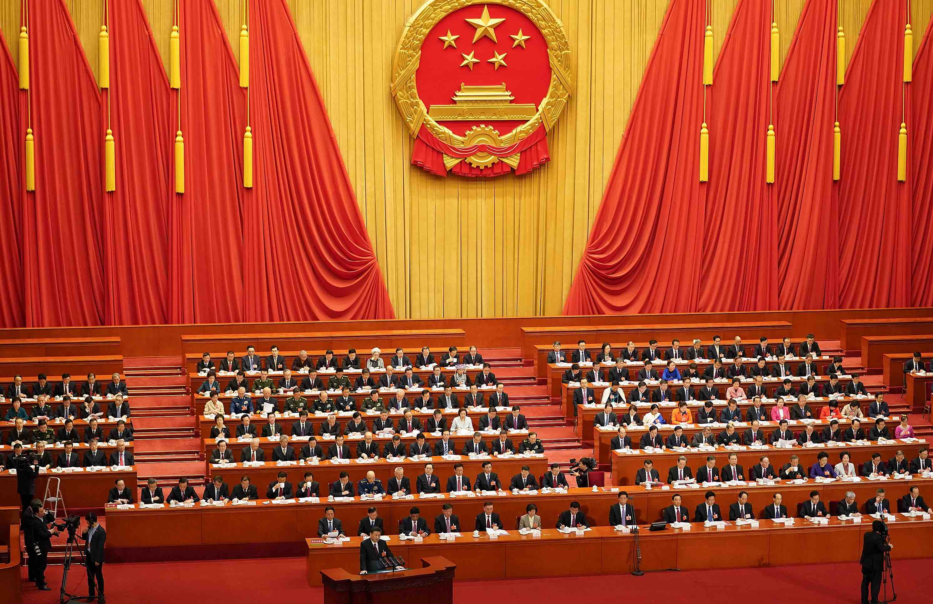 Closing session of the National People's Congress in March (Photo: Lintao Zhang/Getty)