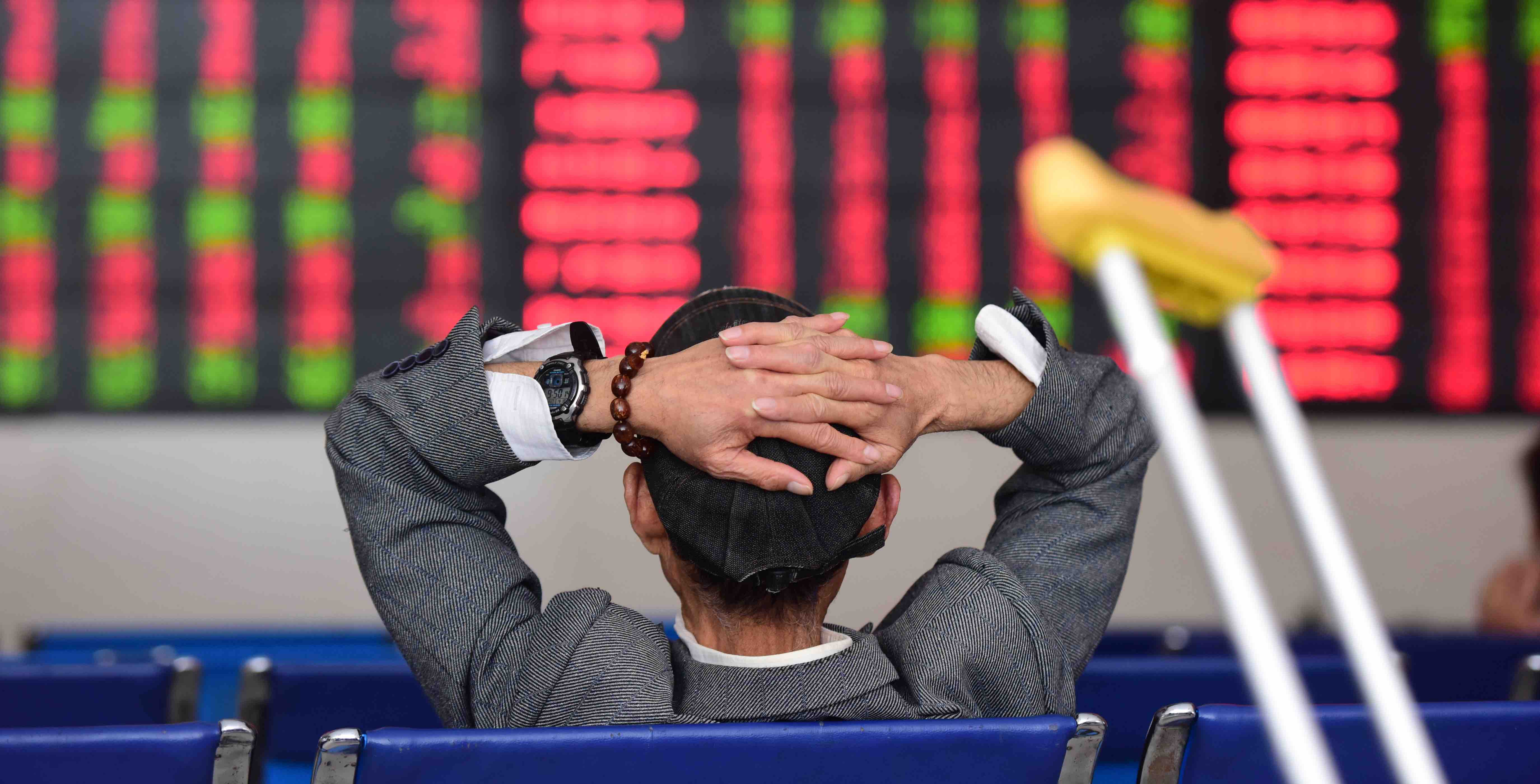 The stock exchange hall in Fuyang, China (Photo: VCG via Getty Images)