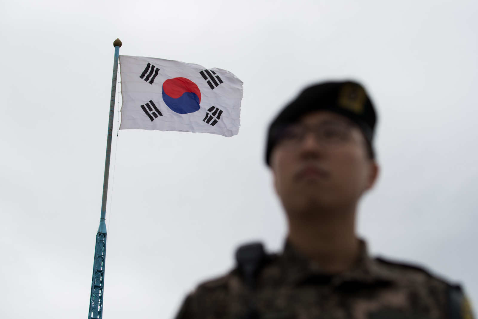 Daeseong-dong village in the Demilitarized Zone, Paju, South Korea (SeongJoon Cho/Bloomberg via Getty Images)