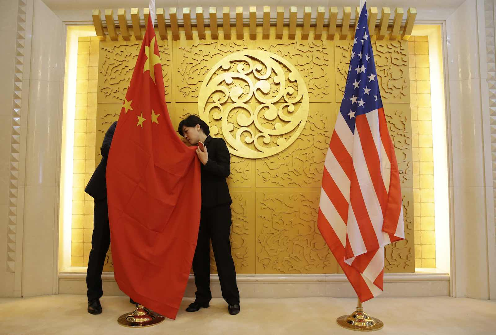 China's rhetorical deference to international law masks the more subversive consequence of its actions to redraw boundaries (Jason Lee/AFP via Getty Images)
