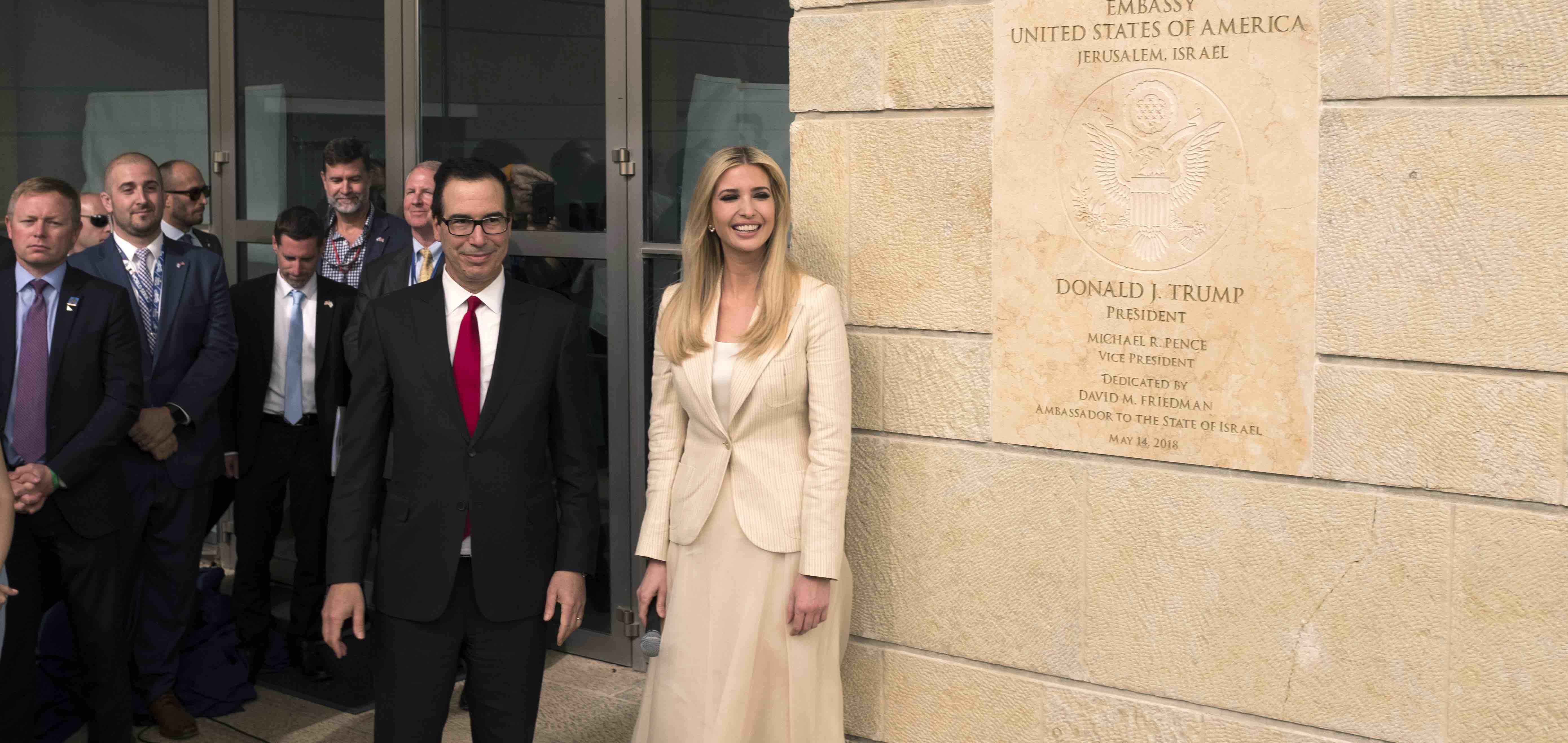 White House Senior Advisor Ivanka Trump opening the US Embassy in Jerusalem (Photo: Lior Mizrahi/Getty)