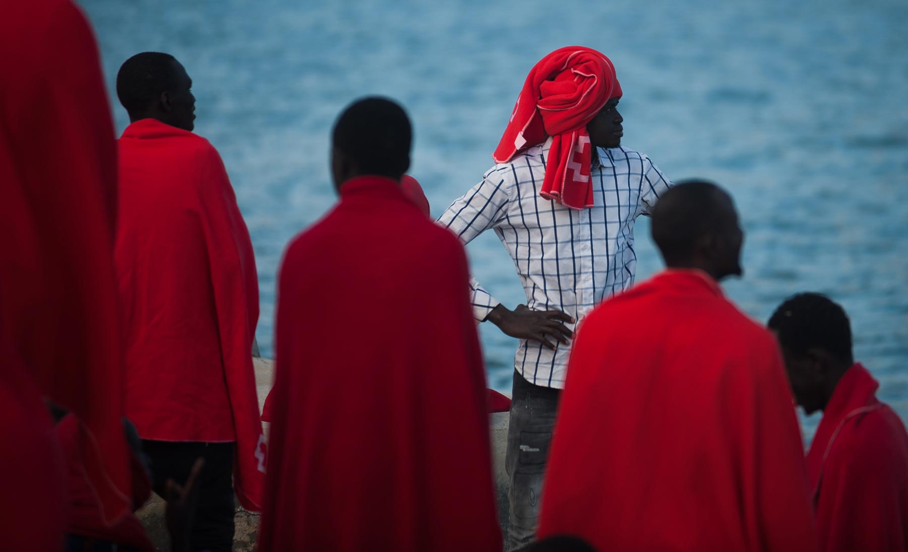 Migrants rescued from the Mediterranean (Photo: Jesus Merida via Getty)