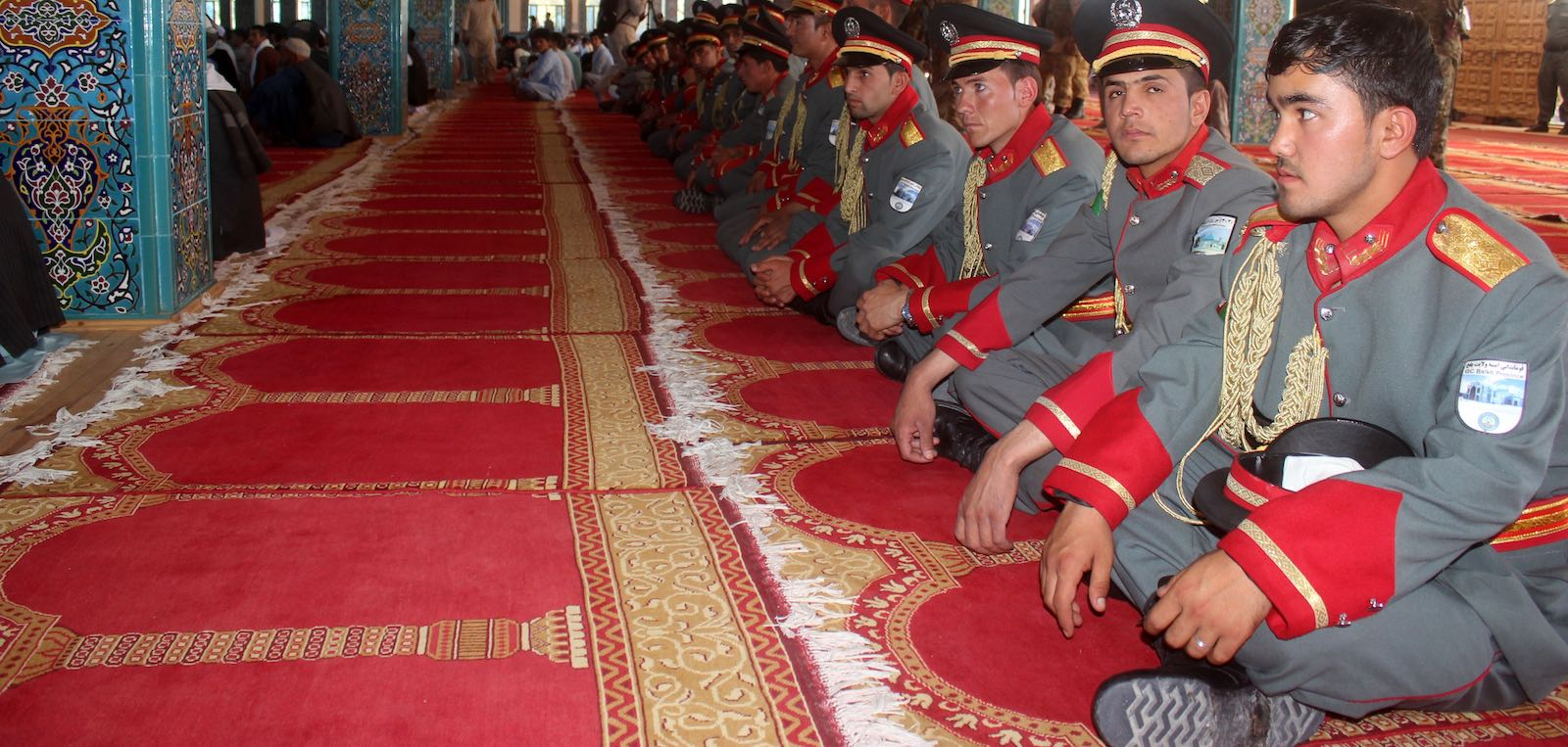 Eid al-Fitr prayer in Balkh, Afghanistan, on 15 June, during a rare ceasefire in the 17-year conflict (Photo: Sayed Khodaberdi Sadat via Getty)
