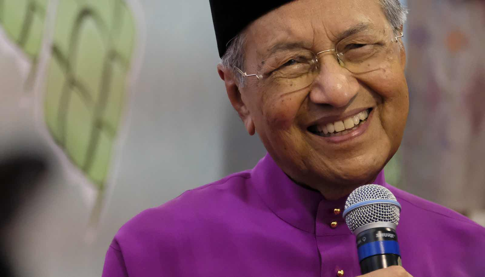 Malaysian Prime Minister Mahathir Mohamad at his official residence in Putrajaya (Photo: Faris Hadziq via Getty)