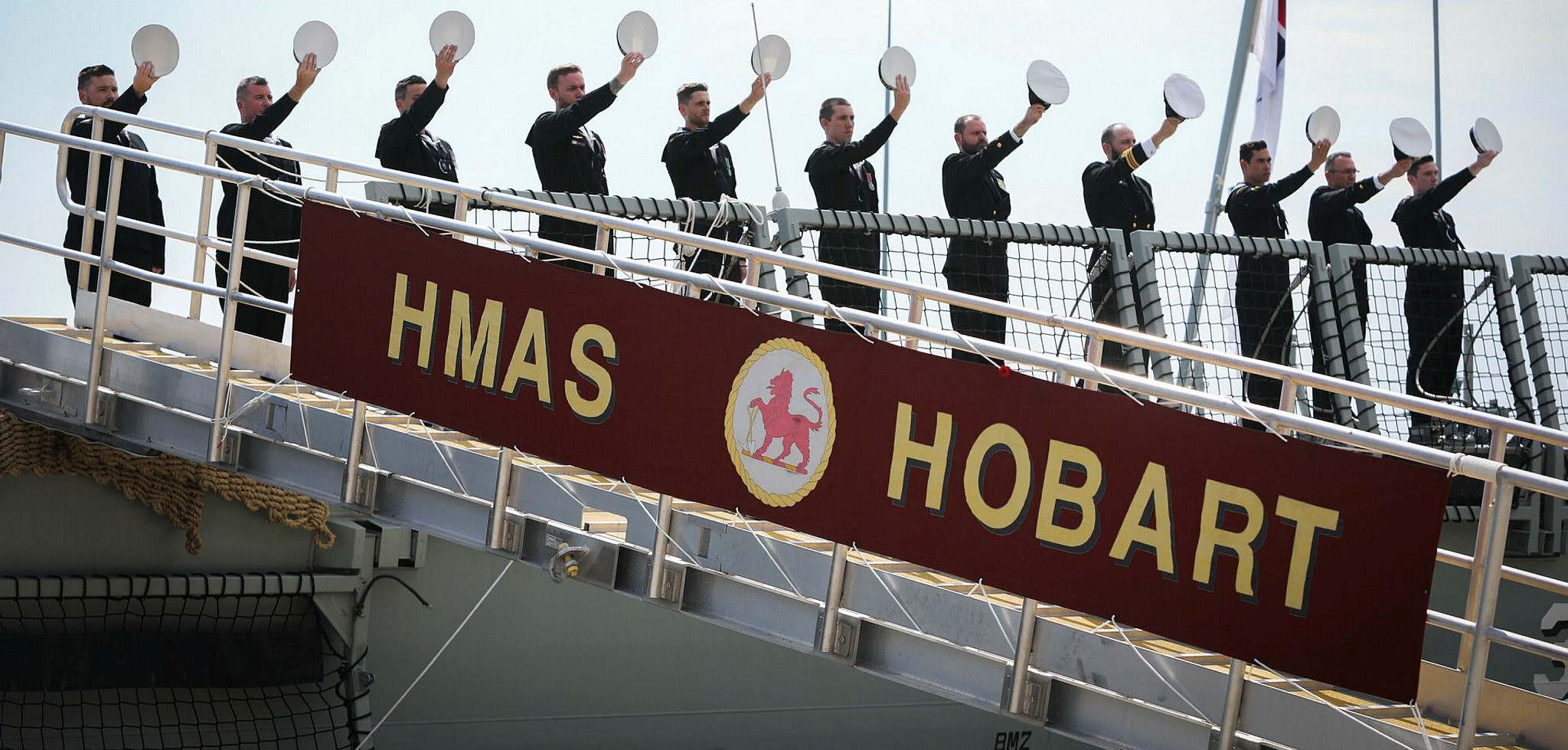 The commissioning ceremony for the RAN's guided missile destroyer HMAS Hobart in Sydney (Photo: Australian Defence)