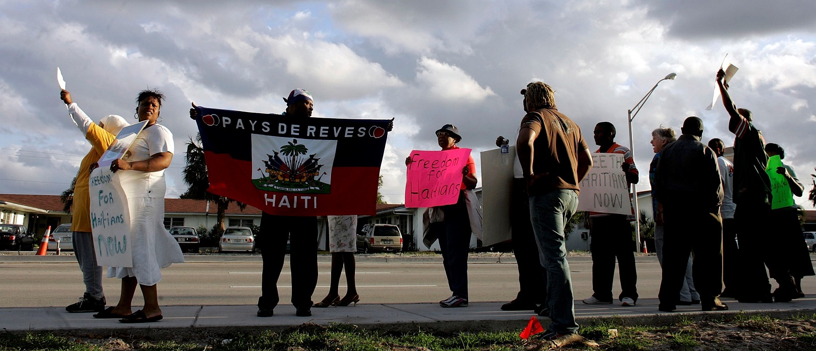 Activists protest US immigration policy for Haitians (Photo: Joe Raedle/Getty Images)