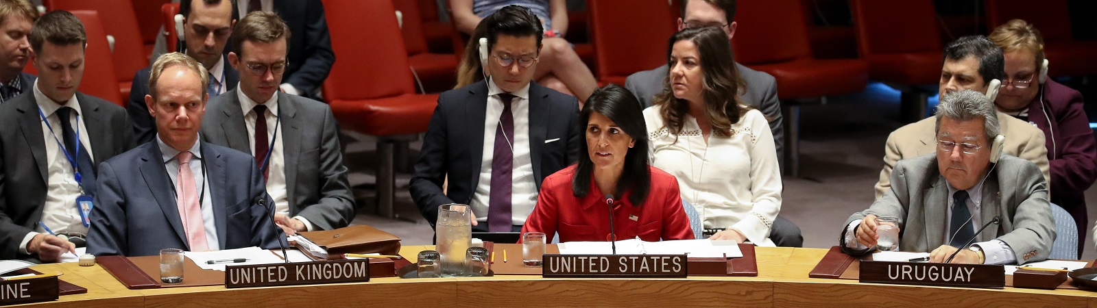 Nikki Haley, US ambassador to the United Nations, at the 5 July emergency meeting of the UN Security Council (Photo: Drew Angerer/Getty Images)
