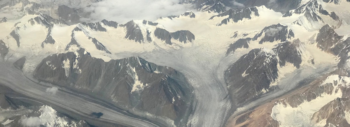 Glacier in Indian Himalaya covered in soot (Photo: Ruth Gamble)