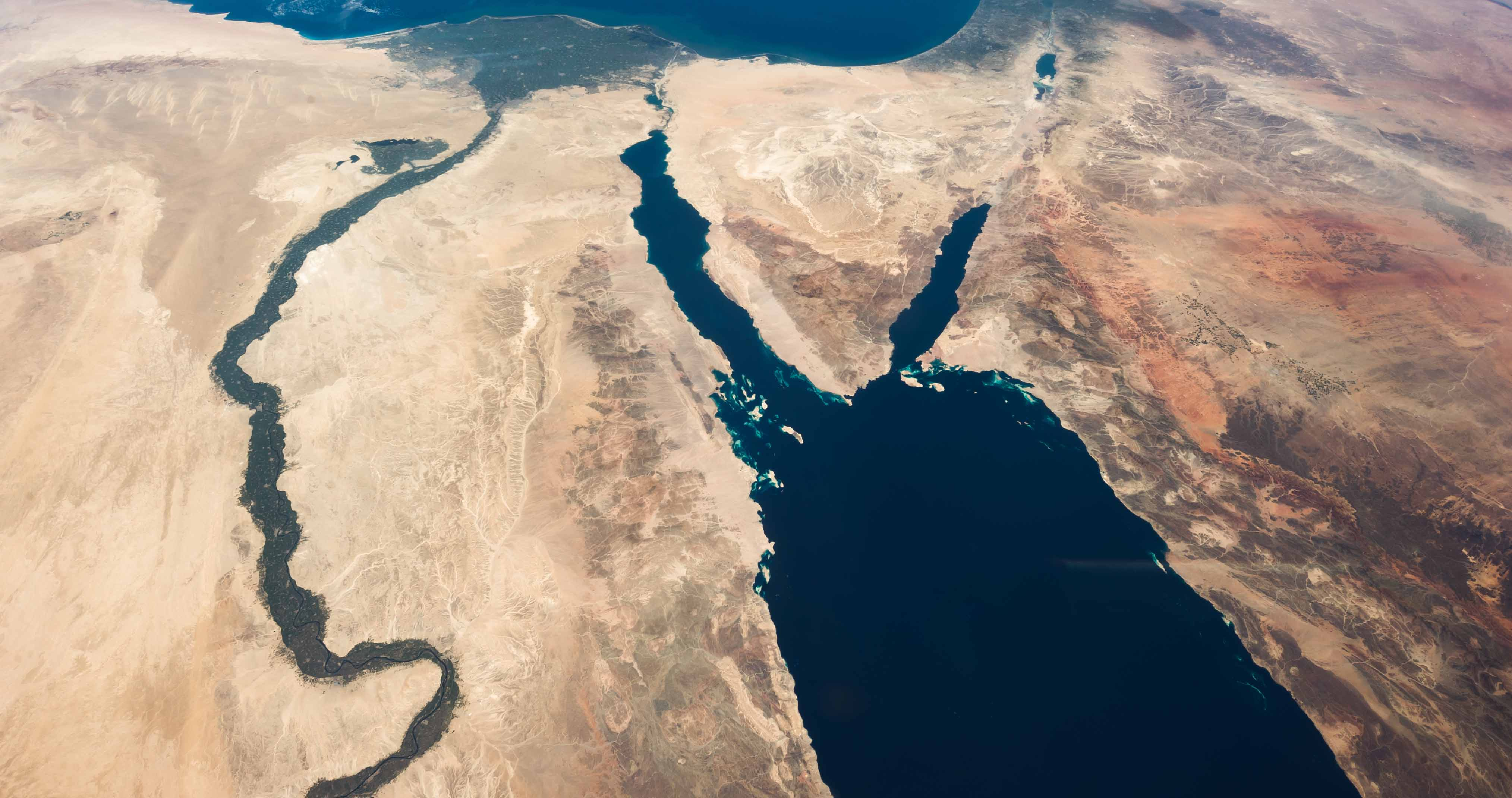 The Nile River and the Sinai Peninsula (Photo: Nasa)