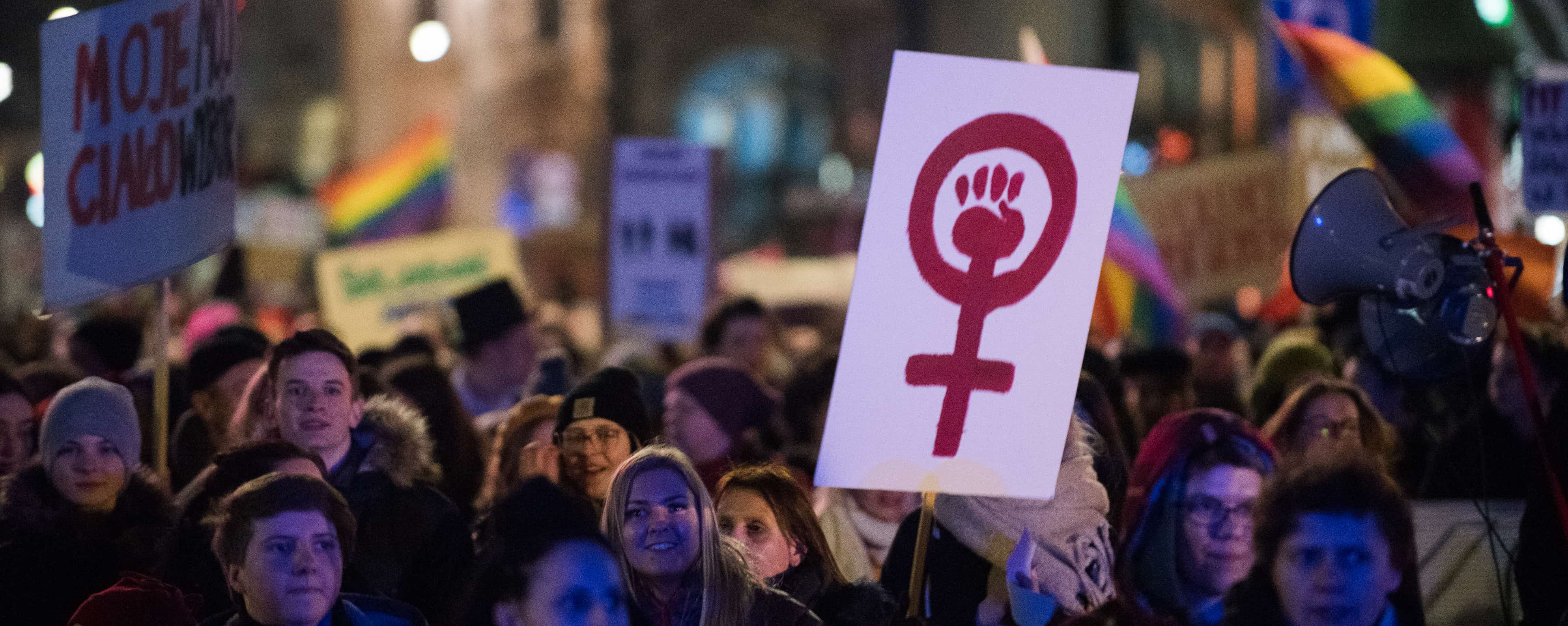 International Women's Day in Krakow. (Photo: Omar Marques/Getty)