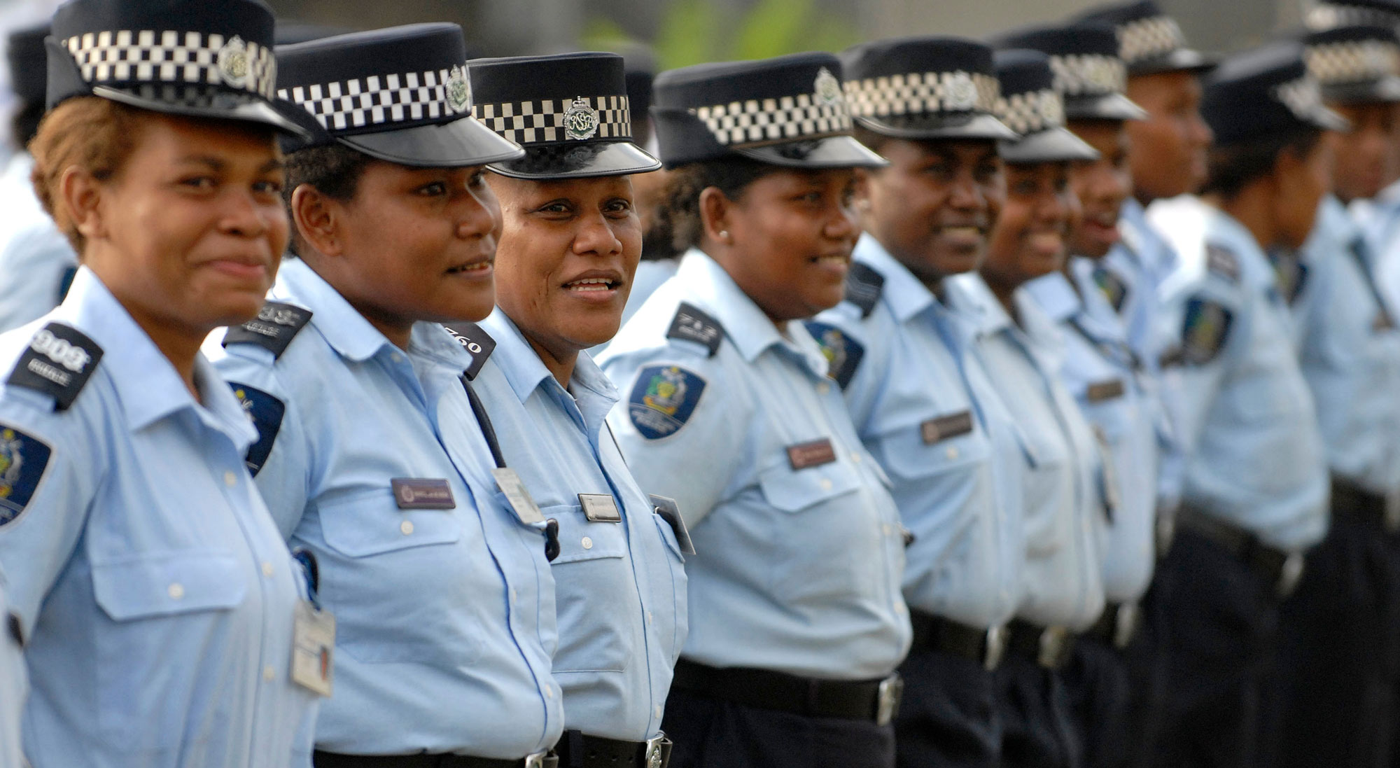 Women from the Royal Solomon Islands Police Force (RSIPF). Photo: DFAT (flickr)