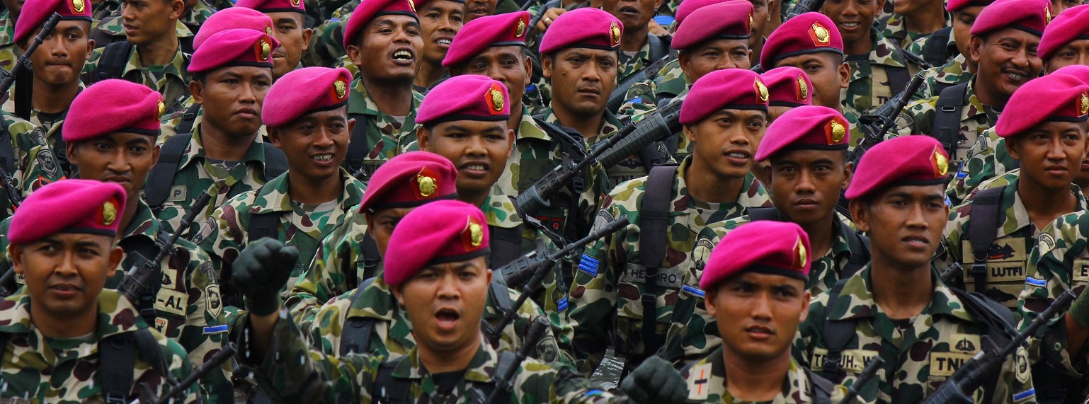Indonesian Marine Forces seen during the 71st anniversary of Indonesia Military on 15 November, 2016 (Photo: Jefta Images via Getty)