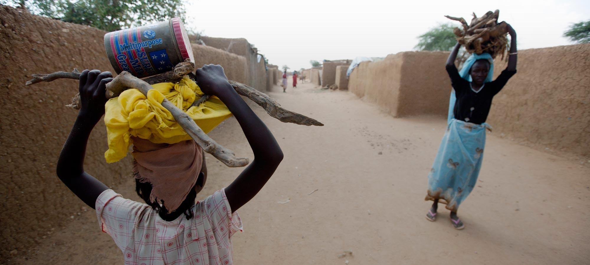 Internally displaced people return to Kassab camp, North Darfur. Photo: UNAMID (flickr)