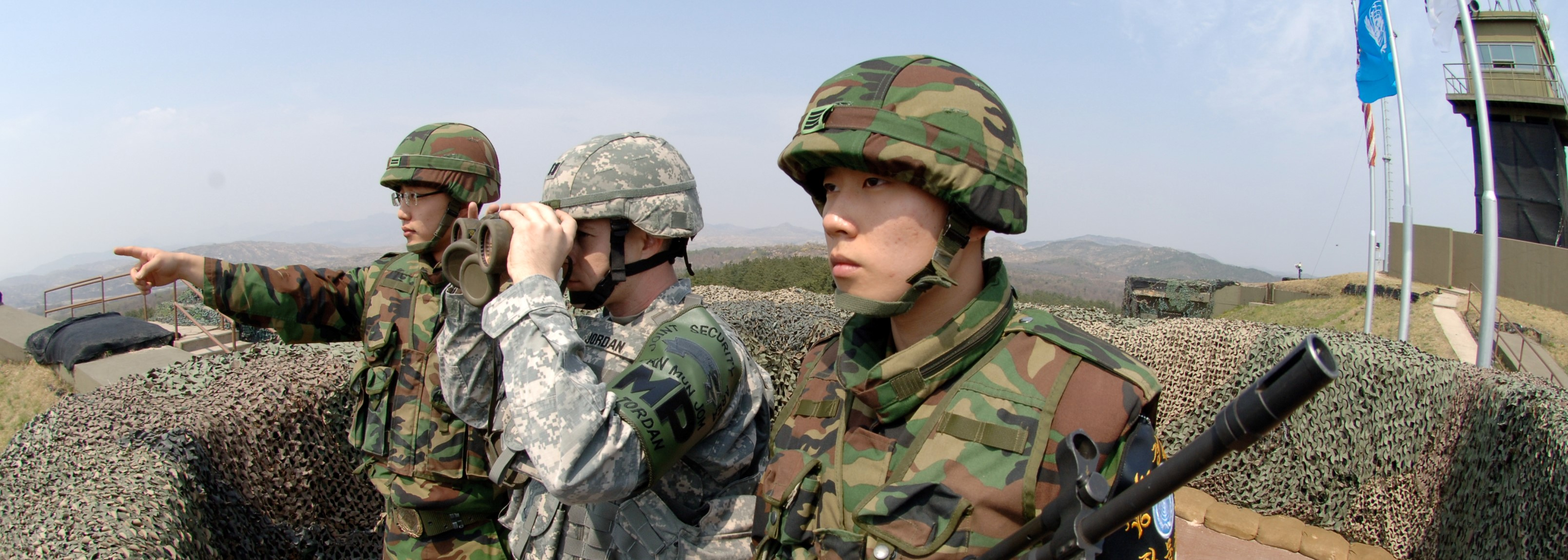 ROK and US soldiers at Observation Post Ouellette, South Korea. (Photo: Flickr/US Army)