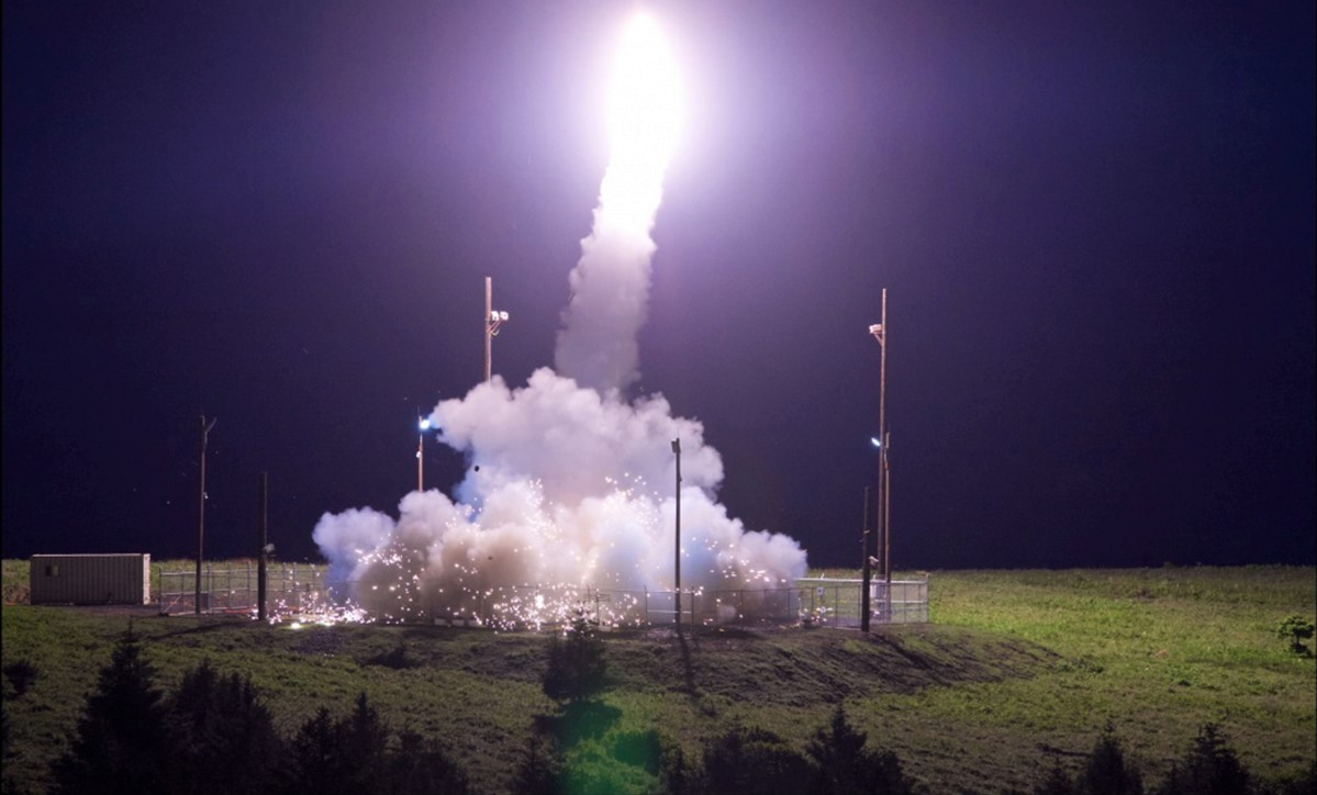 Missile launch at US Pacific Spaceport Complex, Alaska. (Photo: US Pacific Command/Flickr)