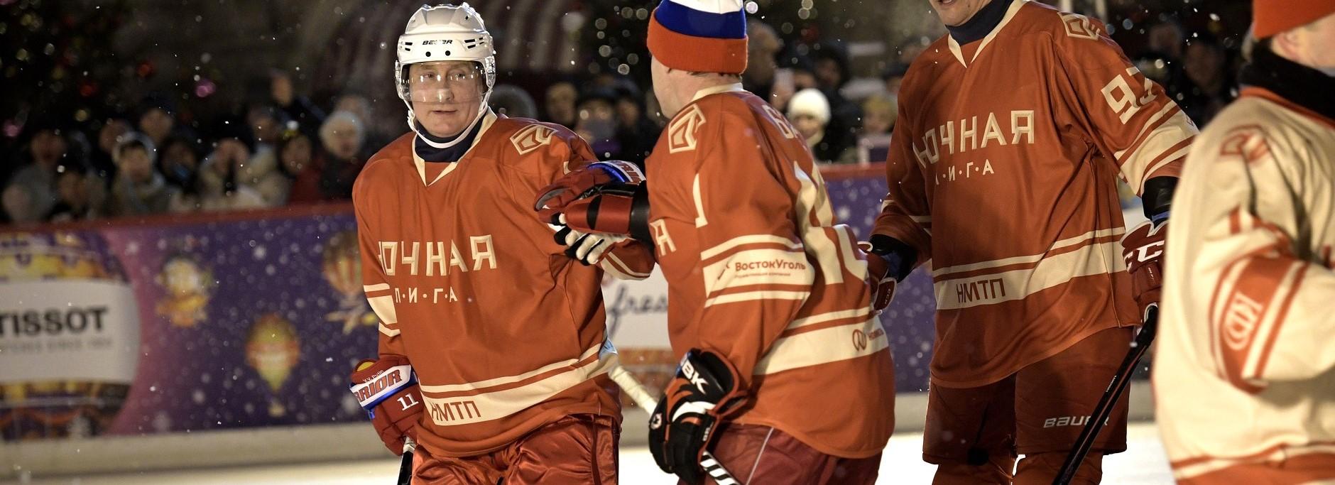 Russian President Vladimir Putin at a night hockey game, December 2017 (Photo: kremlin.ru)
