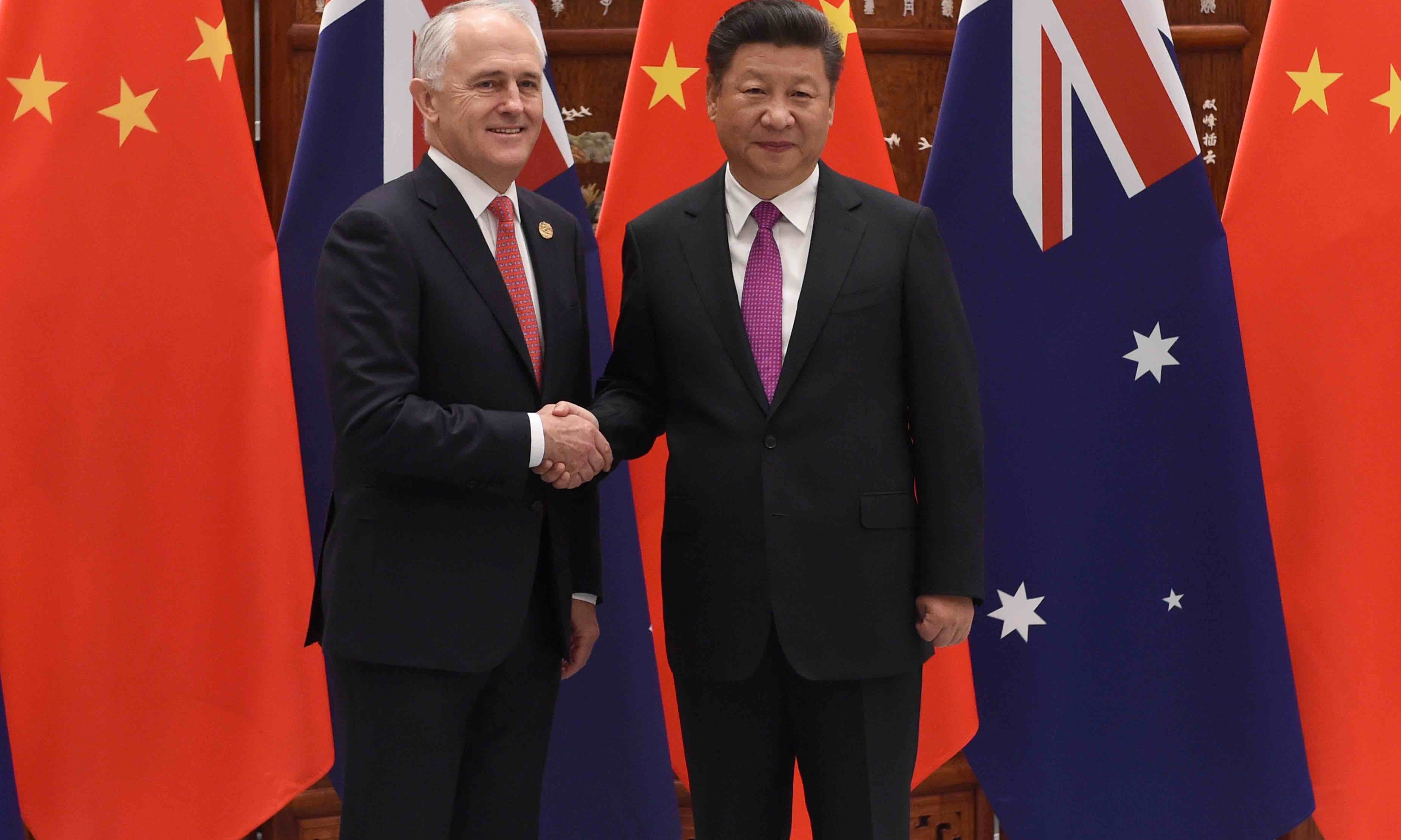 Malcolm Turnbull and Xi Jinping in Hangzhou, China, 4 September 2016 (Photo: Wang Zhou – Pool/Getty)