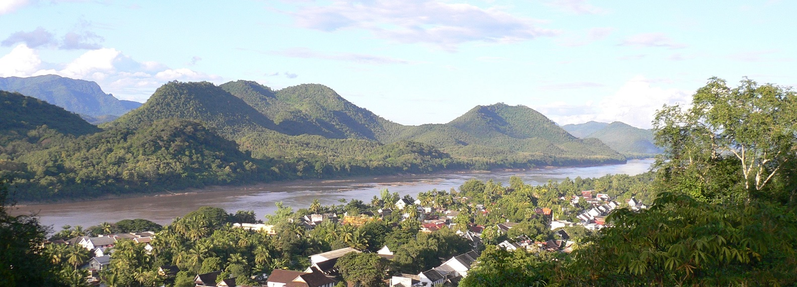 The Mekong still runs full and strong through Luang Prabang, but for how long? Photo by the author.