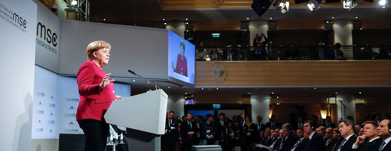 German Chancellor Angela Merkel speaks at the Munich Security Conference (Photo: Bundesregierung/Denzel)