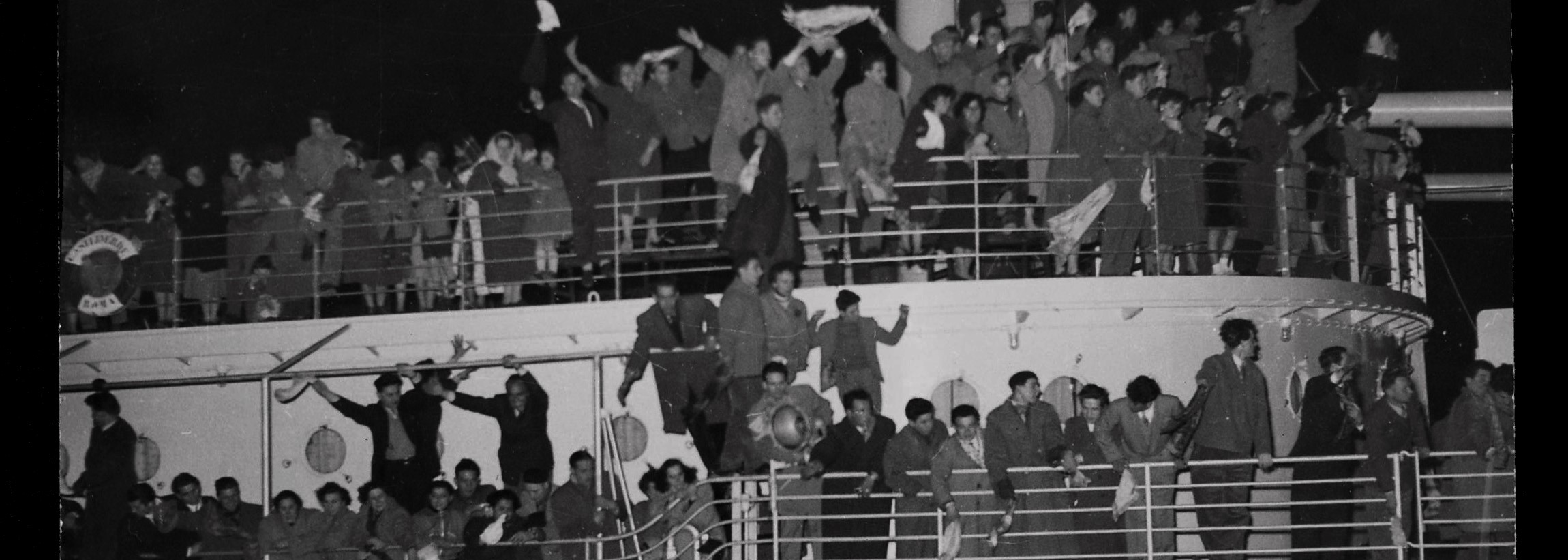 Migrants departing Italy for Australia 1953 (Photo: Australian National Maritime Museum on The Commons)