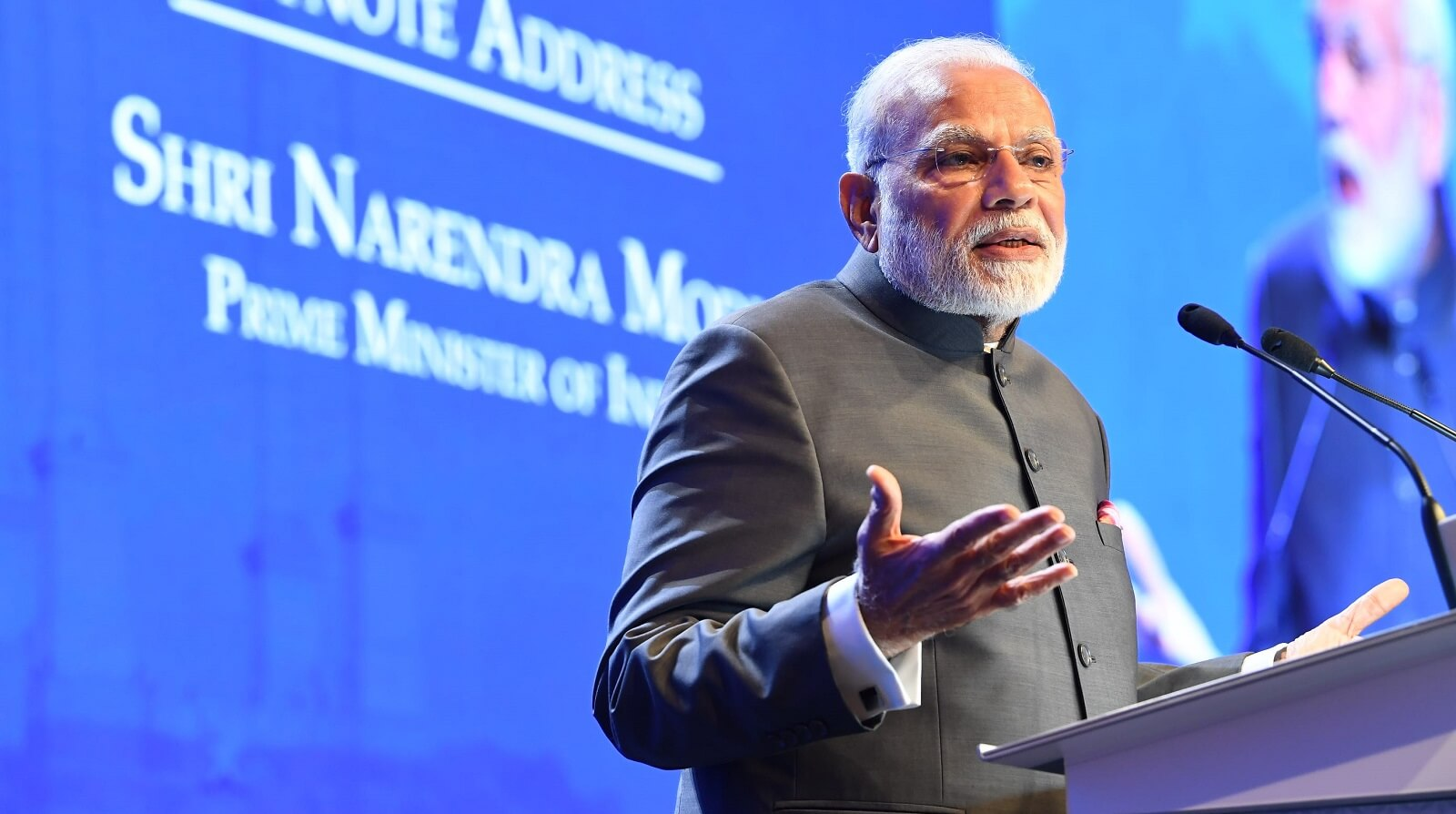 Indian Prime Minister Narendra Modi at the Shangri-La Dialogue, Singapore, 1 June (Photo: MEAphotogallery/Flickr)