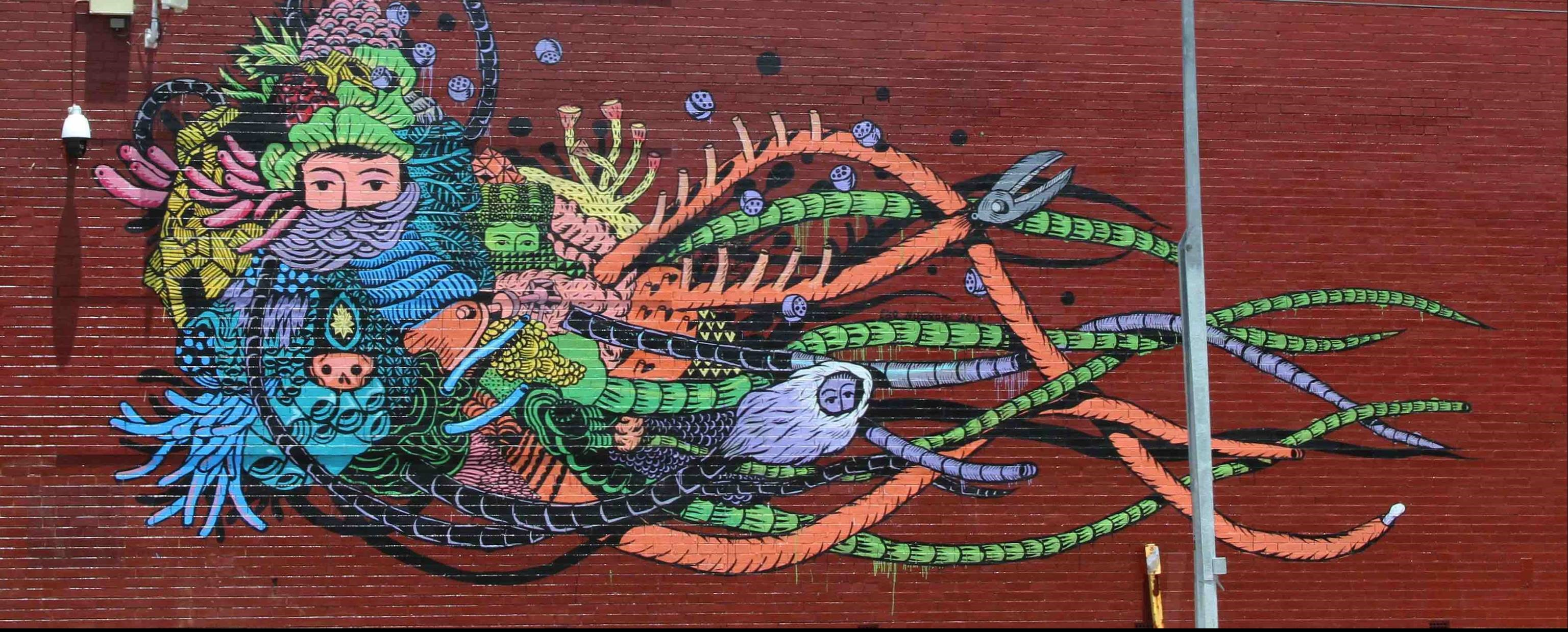 A work by Indonesian artist Eko Nugroho (Photo: Stu Rapley/Flickr)