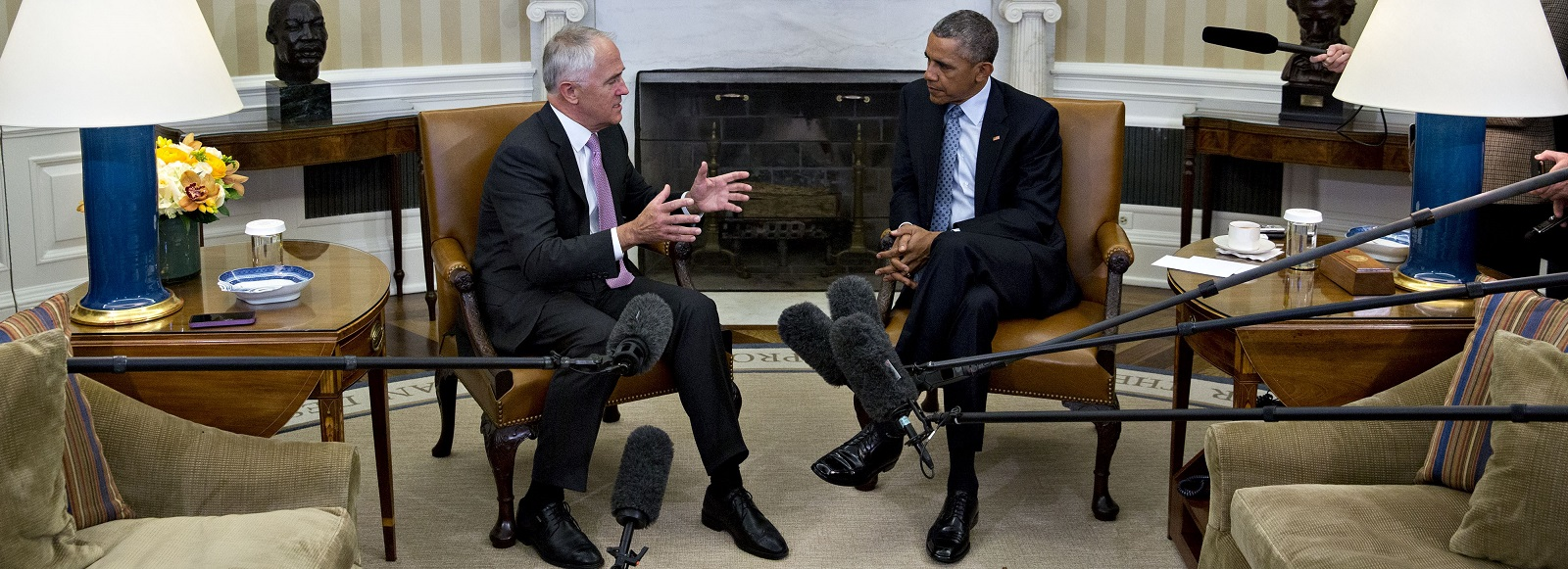 Obama-Turnbull Oval Office meeting January 2016 (Photo Andrew Harrer/Bloomberg via Getty Images)