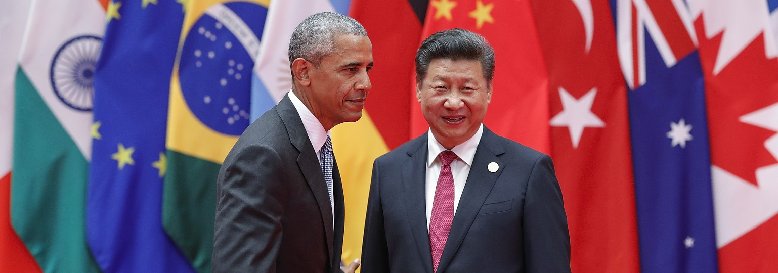 Barack Obama and Xi Jinping at the G20 Summit, Hangzhou, China, in September 2016 (Photo by Lintao Zhang/Getty Images)