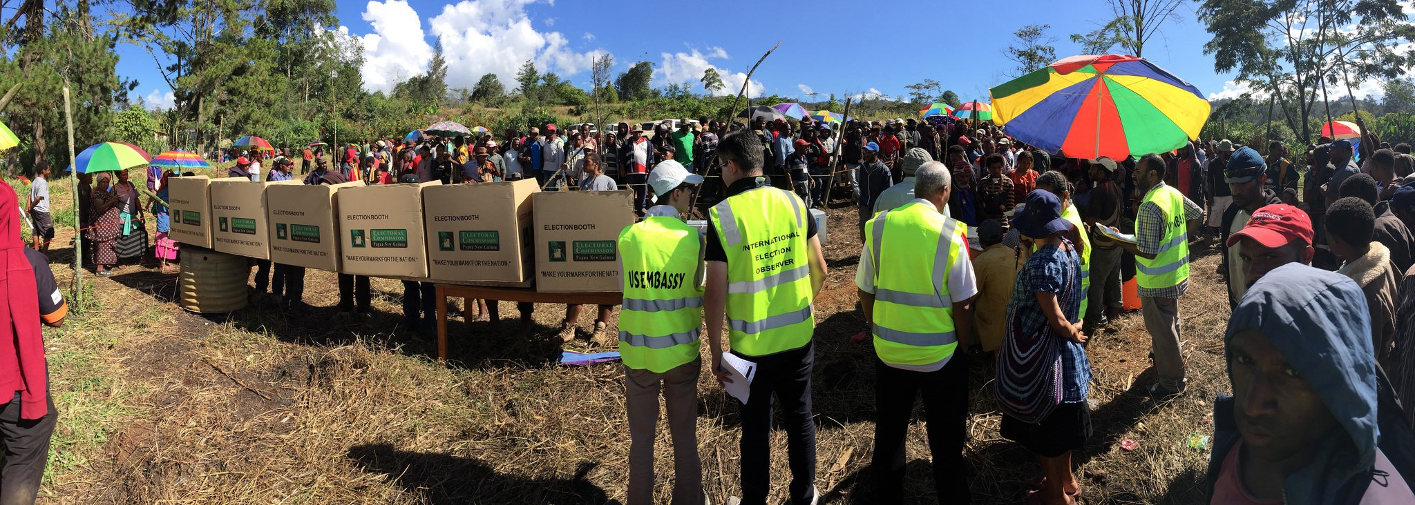 Observers from the US Embassy and the British High Commission at Mount Hagen in PNG's Western Highlands during the 2017 National Elections (Photo: Flickr/UNDP PNG)
