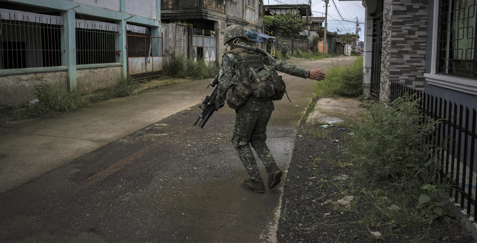 Philippine Marines soldiers, Marawi, southern Philippines, 22 July. (Photo: Jes Aznar/Getty Images)