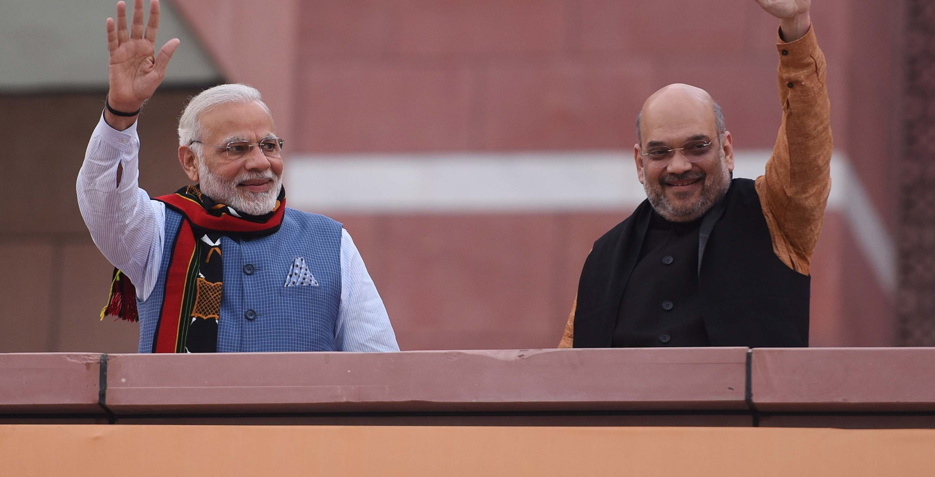 Prime Minister Narendra Modi and BJP Chief Amit Shah in March (Photo: Sanchit Khanna/Hindustan Times via Getty)