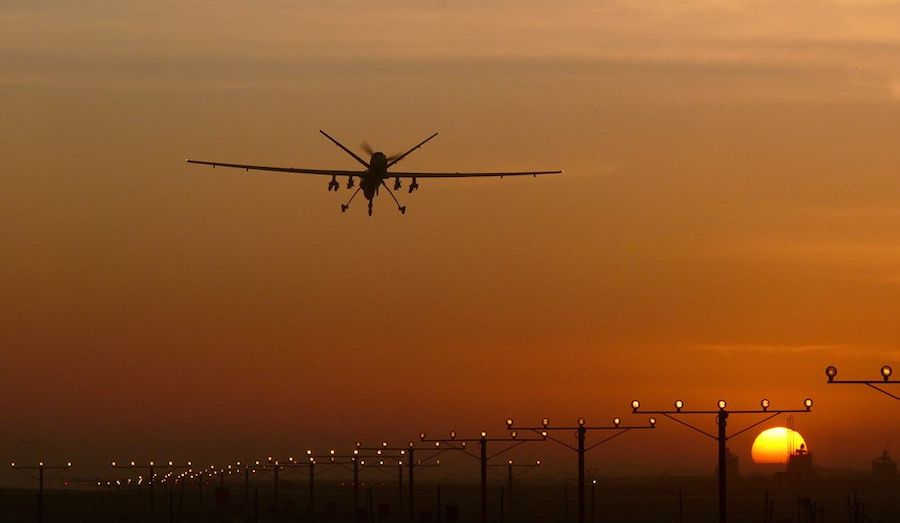 Reaper RPAS lands at Kandahar, Afghanistan (Photo: Defence Images/Flickr)