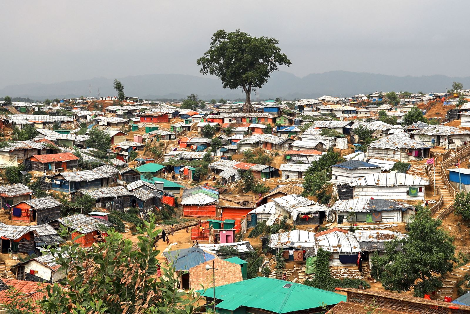 The Balukhali camp in Cox's Bazar Bangladesh on March 07, 2019. (Photo: Kazi Salahuddin Razu/Getty)