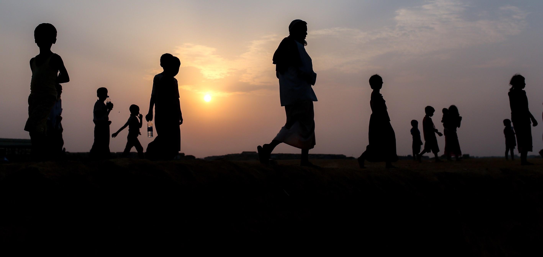 Rohingya refugees from Myanmar in neighbouring Bangladesh on 8 April (Photo: Arif Hudaverdi Yaman/Getty)