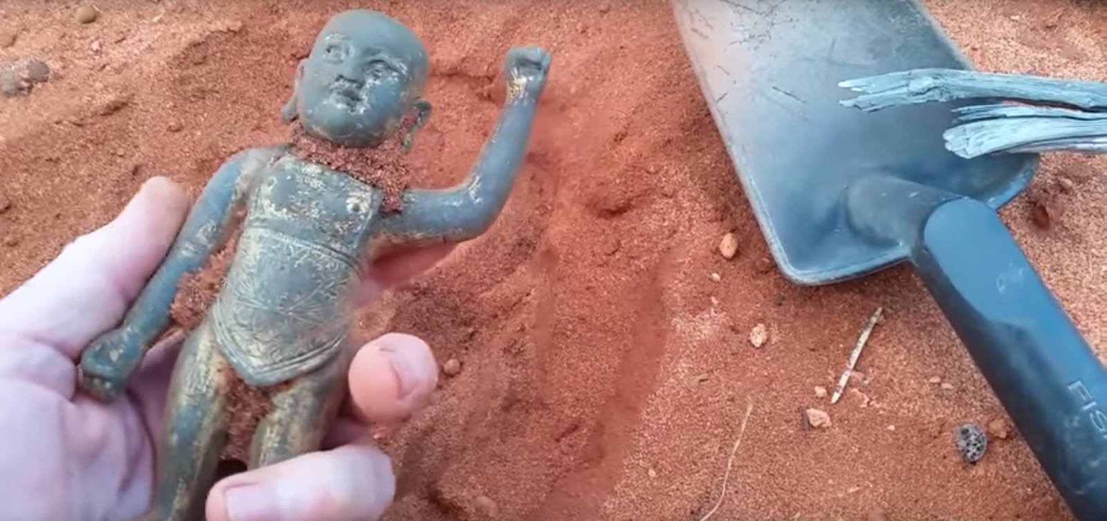 The bronze Buddha sculpturemysteriously unearthedfrom a beach in WA has been dated to the Ming Dynasty (Photo: Finn Films)