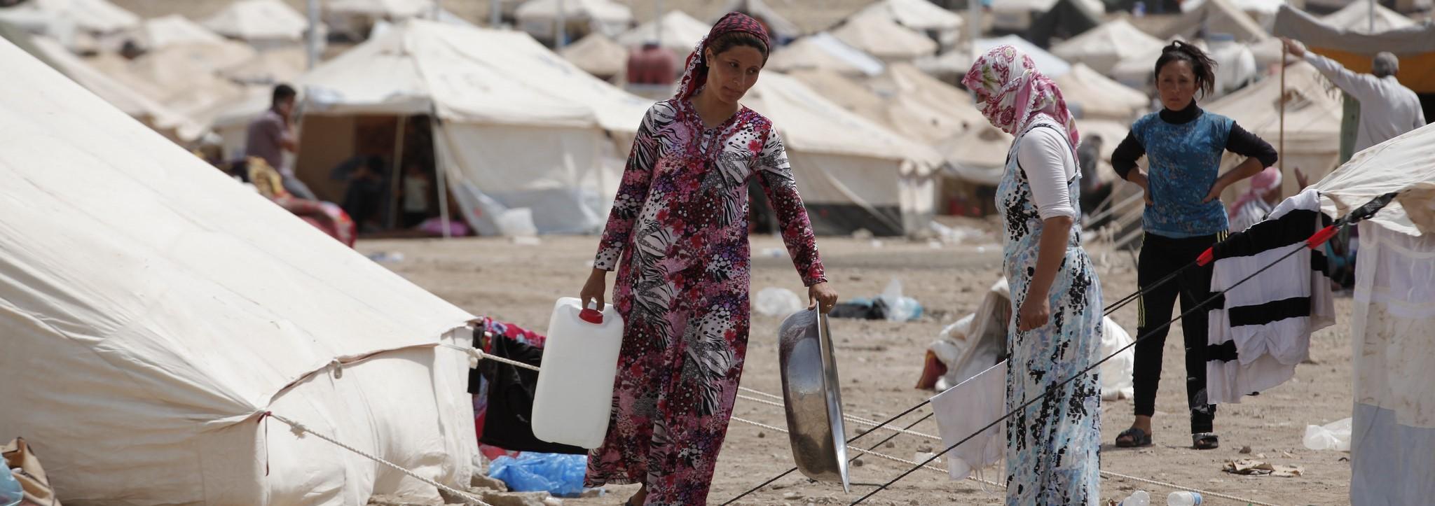 Syrian refugees in a Northern Iraq refugee camp (Photo: Flickr/IHH)
