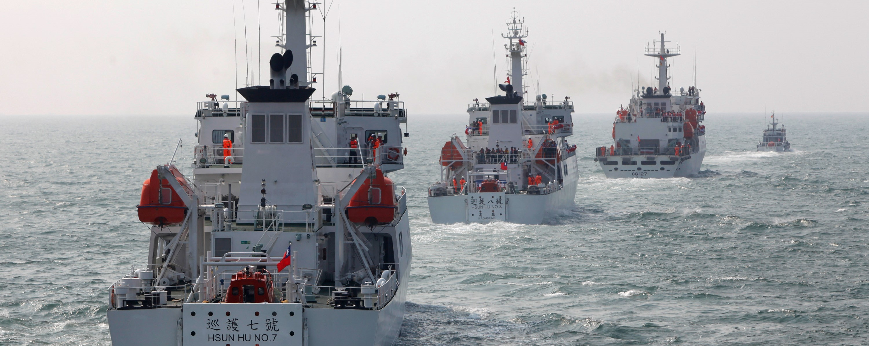 Taiwanese Coast Guard (Photo: AshleyPon/Getty)
