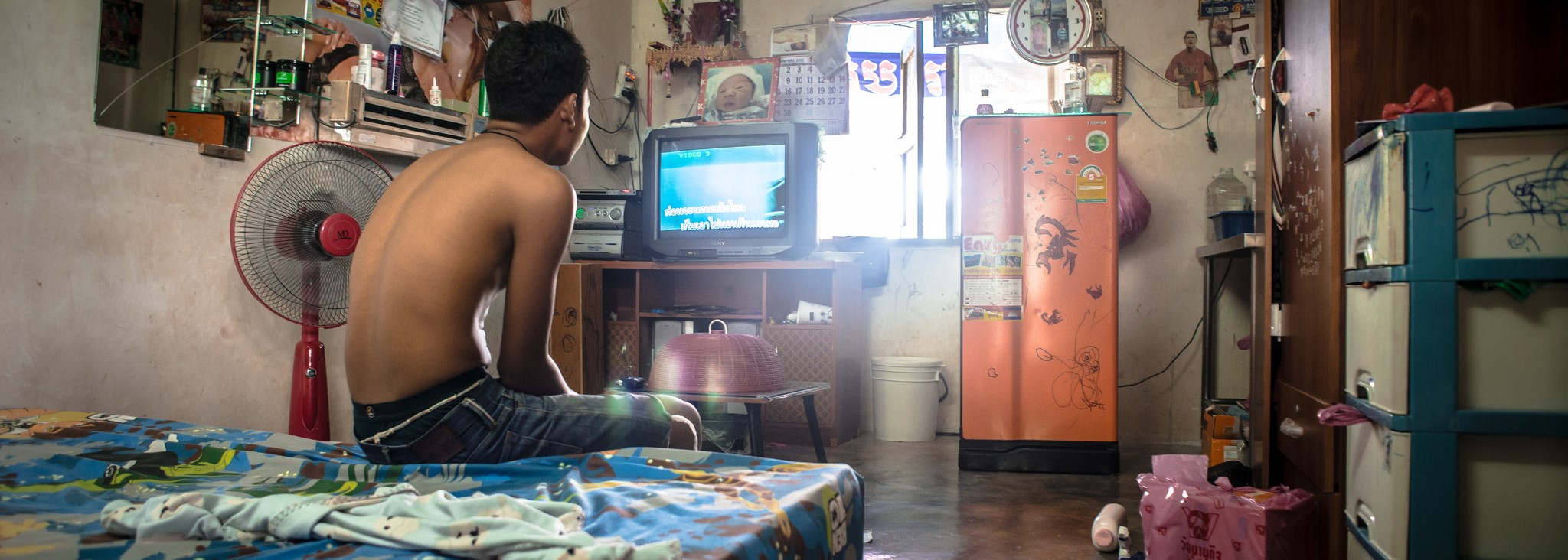 Cambodian migrant worker in his dorm, Thailand (Photo: Flickr/  ILO in Asia and the Pacific)