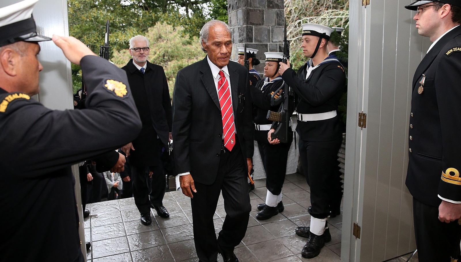 Tonga's King Tupou VI has dissolved the parliament led by PM Samuela 'Akilisi Pohiva (pictured). (Photo: Getty Images)