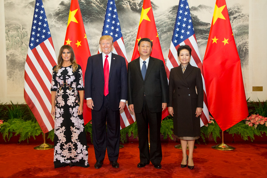 President Trump with President Xi and their wives on his official visit to Beijing in November 2017. (Photo: The White House)
