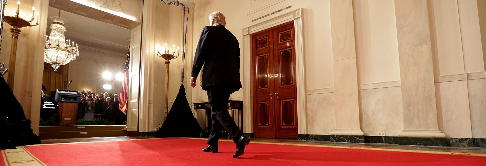US President Donald Trump in the White House, January 31, 2017. (Photo:Chip Somodevilla/Getty Images)
